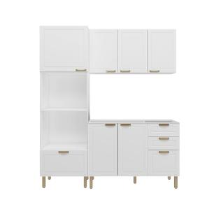 Cozinha Completa 3 peças Americana Multimóveis 5911 Branco