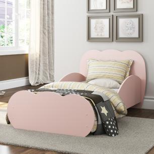 Cama Infantil com Colchão Incluso 70 x 150 cm 100% MDF Algodão Doce Multimóveis Rosa