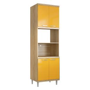 Paneleiro Multimóveis Sicília para forno e micro 5120 Argila/Amarelo