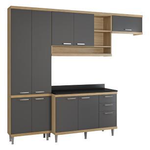 Cozinha Completa Multimóveis com 5 peças Sicília 5841 Argila/Grafite