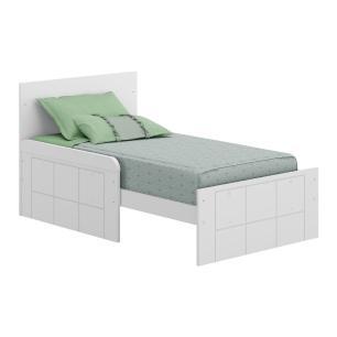 Berço mini cama e Cômoda 4 gav Valentina Multimóveis Branco