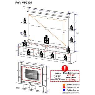 Rack Estante com Painel TV 65