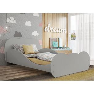 Cama Juvenil/ Solteiro MDF Safira Cinza Premium Multimóveis para colchão 188 x 88 cm REF. 2761.160