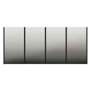Aparador Buffet 4 Portas com Espelho Vegas Multimóveis Preto