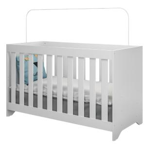 Quarto Completo infantil Ana Lívia Multimóveis Branco com Berço mini cama + Guarda roupa 3 portas + cômoda 1 Porta e 4 Gavetas