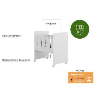 Mini Berço Multimóveis com colchão incluso 100% MDF REF. 0531