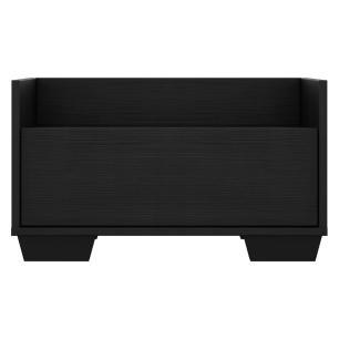 Mesa de Cabeceira 60 cm com Pés Quadrados Multimóveis Preta