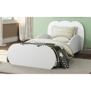 Cama Infantil para colchão 70 x 150 cm 100% MDF Nuvem Multimóveis Branca