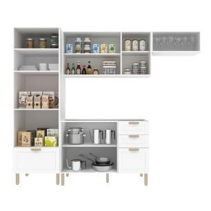 Cozinha Completa 4 peças Americana Multimóveis 5691 Branco