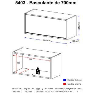 Aéreo Multimóveis Calábria Basculante 5403 Nogueira/Branco