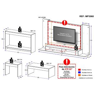 Painel P/TV 60