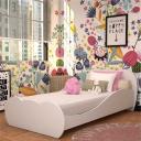 Cama Solteiro para colchão 88 x 188 cm 100% MDF Nuvem Multimóveis Branca