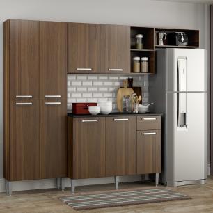 Cozinha Compacta Pequim 9 Portas MP2933 Multimóveis Carvalho Avelã
