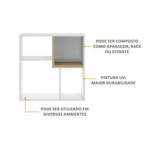 Nicho Componível Multimóveis Multiuso Quadrado com 3 unidades Branco/Argila REF.960