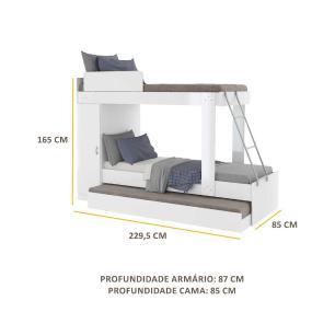 Treliche Solteiro para colchão 188x78cm Multimóveis Branco
