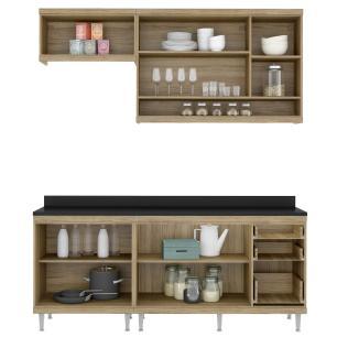 Cozinha Completa Multimóveis com 5 peças Sicília 5811 Argila/Grafite