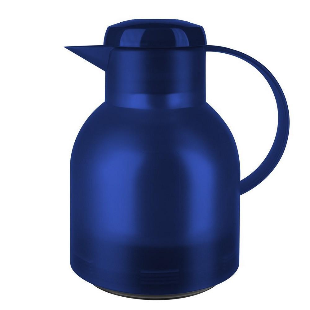 Garrafa Térmica de 1 Litro Quick Press Samba Emsa Azul Translúcida