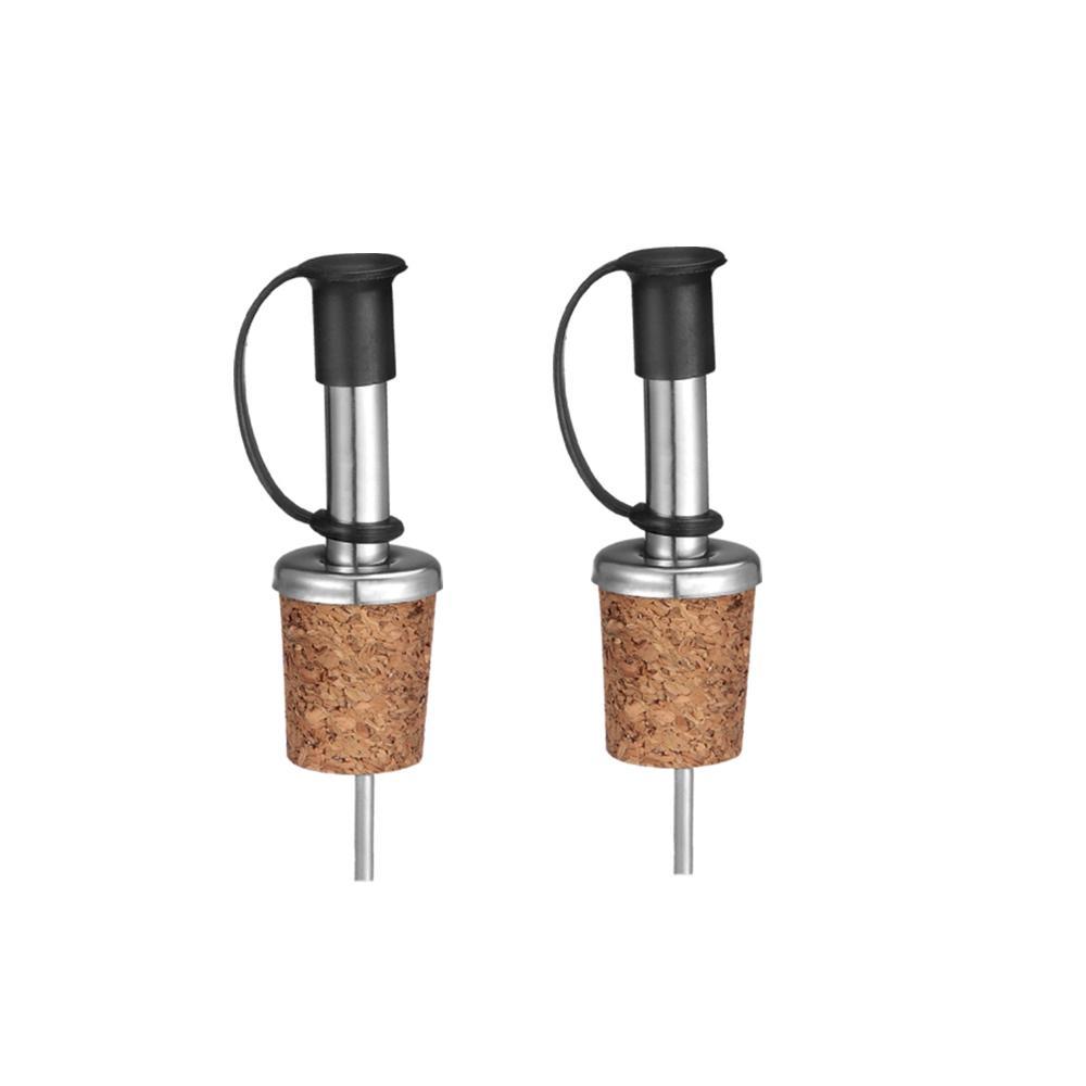 Conjunto 2 Peças Bico Dosador em Aço Inox e Cortiça Kitchen Kenya