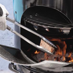 Defumador Médio em Aço Esmaltado Smokey Mountain Cooker Weber