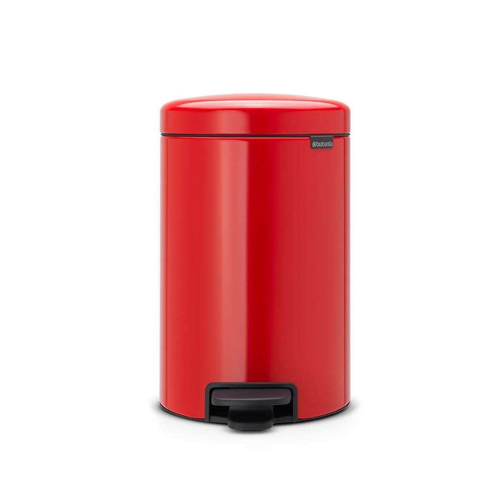 Lixeira em Aço Inox 12 Litros New Icon Brabantia Vermelha