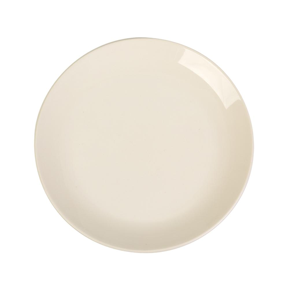 Prato para Sobremesa em Cerâmica 21,5cm Clear Kenya Branco
