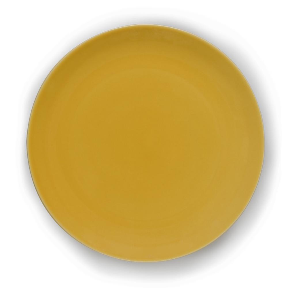 Prato para Sobremesa em Cerâmica 21,5cm Clear Kenya Amarelo