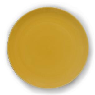 Prato Raso em Cerâmica 27,5cm Clear Kenya Amarelo