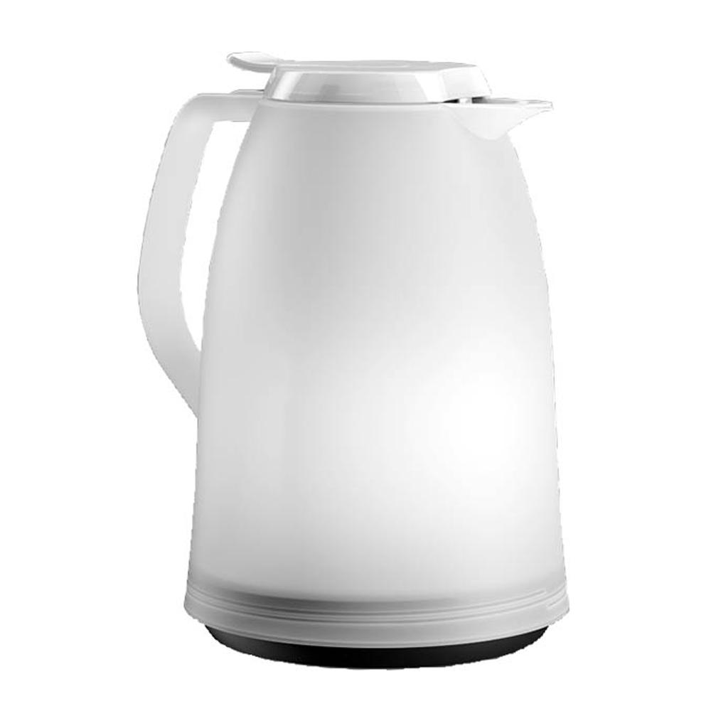 Garrafa Térmica de 1 Litro Quick Tip Mambo Emsa Branca