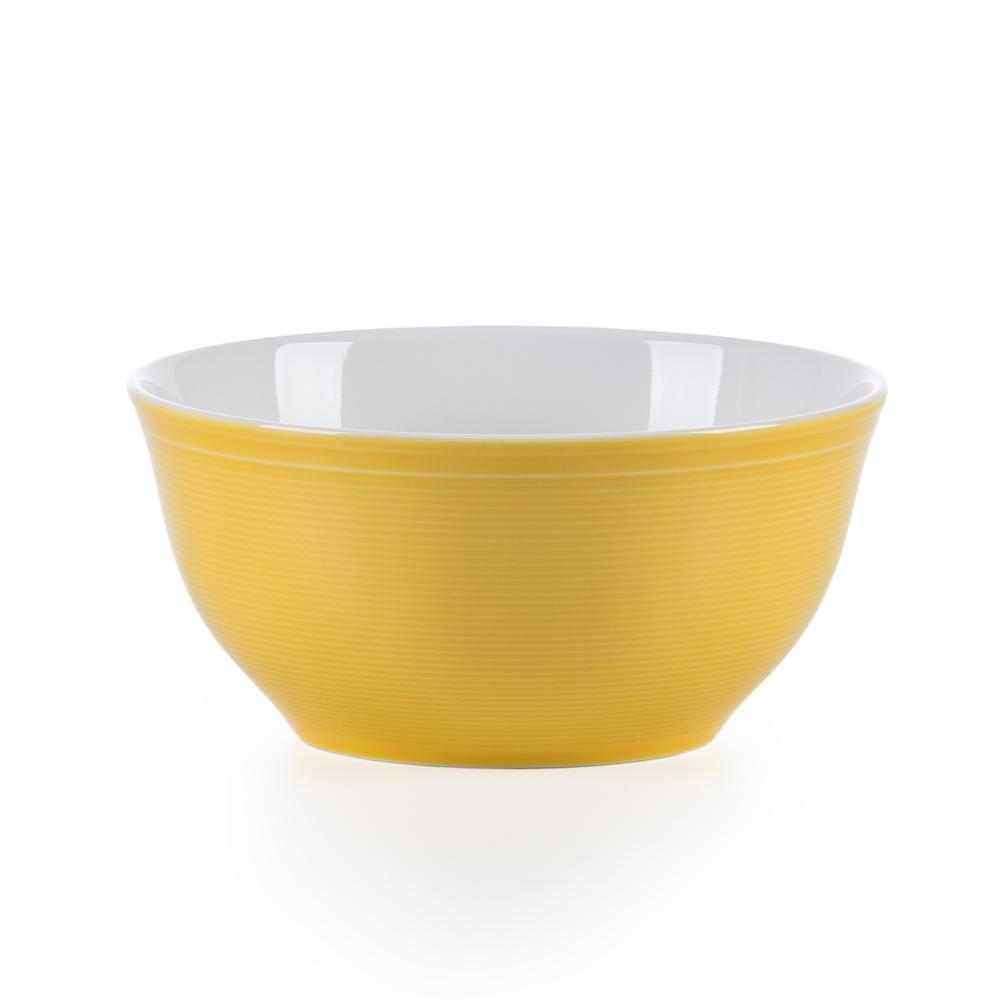 Conjunto de 4 Tigelas em Porcelana 15,5cm Breeze Kenya Amarelo
