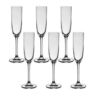Conjunto de 6 Taças de Champagne em Cristal 160ml Flamenco Bohemia