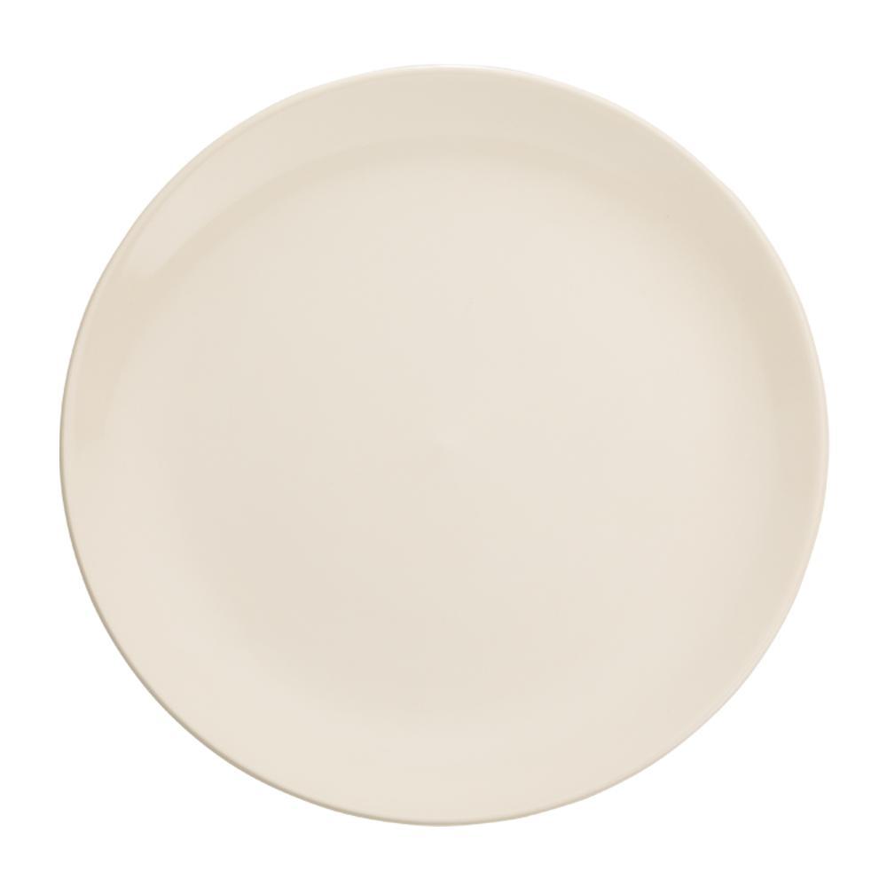 Prato Raso em Cerâmica 27,5cm Clear Kenya Branco
