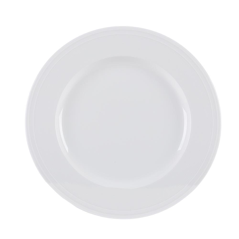 Conjunto de 4 Pratos para Sobremesa em Porcelana 21cm Breeze Kenya Branco
