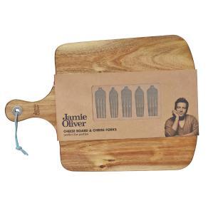 Conjunto de tábua em madeira e 5 garfos para queijo Jamie Oliver