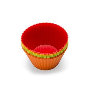 Conjunto de 6 Formas para Muffin em Silicone 8,5cm Kenya Colorida
