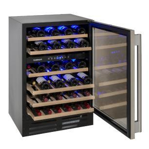 Adega de Vinho 46 Garrafas Dual Zone Built in 220V Prime Cooking Cuisinart