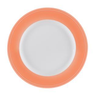 Conjunto de 4 Pratos para Sobremesa em Porcelana 21cm Breeze Kenya Coral