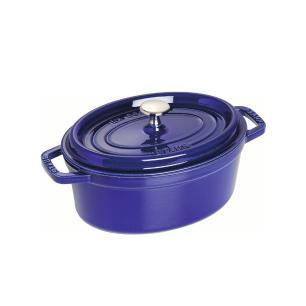 Caçarola Oval em Ferro Fundido 29cm Staub Azul