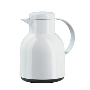 Garrafa Térmica de 1 Litro Brilhante Samba Emsa Branca