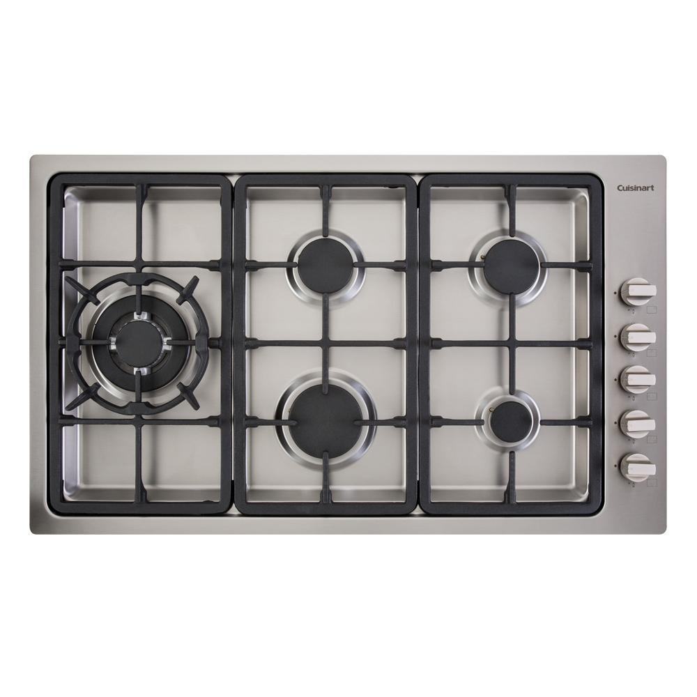 Cooktop a Gás com 5 Queimadores PLF950SLTX-E Prime Cooking 220V Cuisinart