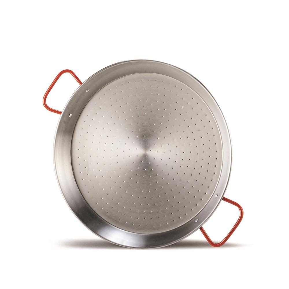 Panela para Paella em Aço Polido 40cm Garcima