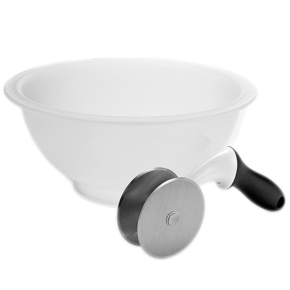 Conjunto de Cortador para Salada em Aço Inox e Tigela OXO