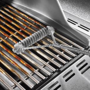Escova para Churrasqueira em Aço 53cm com 3 Lados Weber
