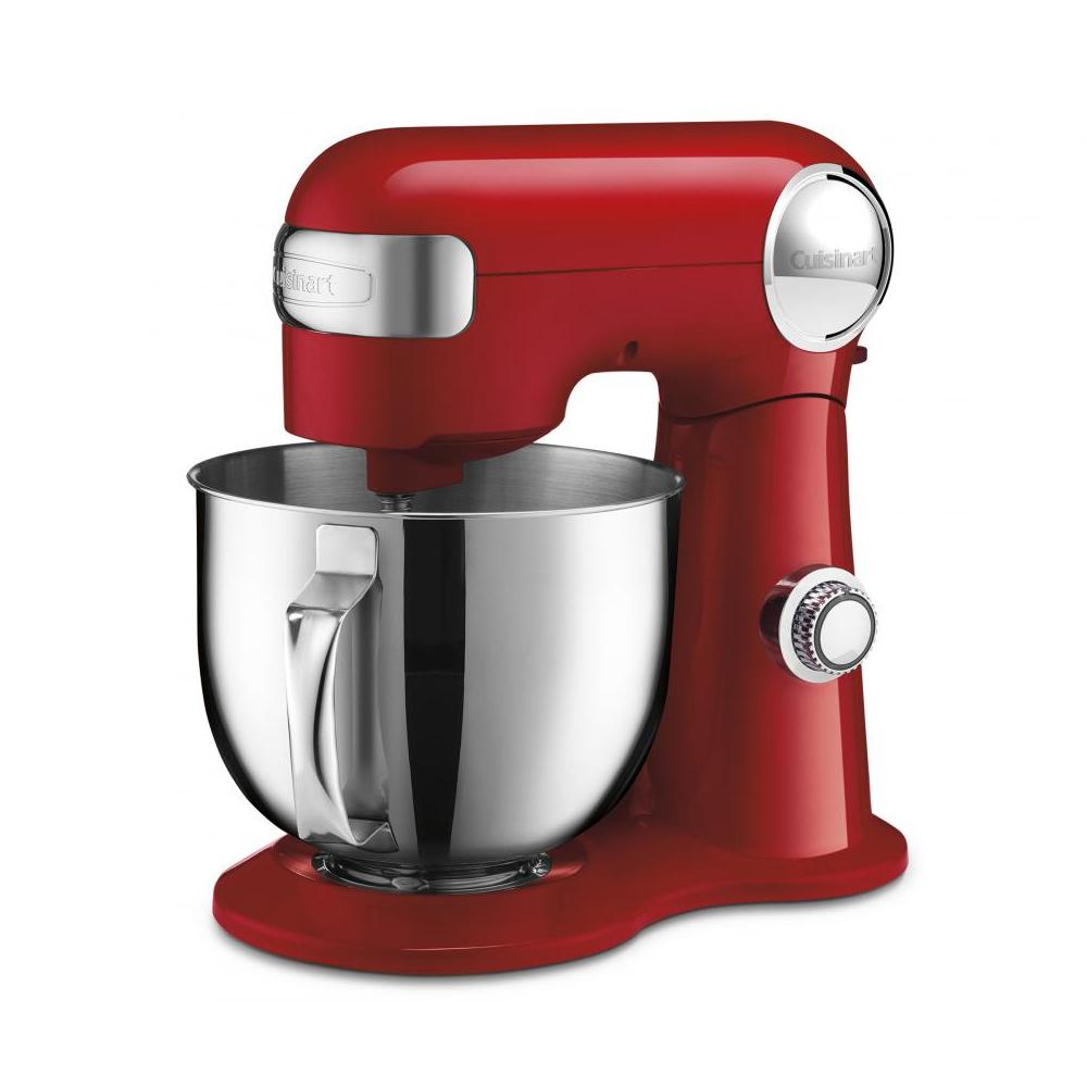 Batedeira Stand Mixer em Aço Inox 12 Velocidades 50rbr 127V Cuisinart Vermelha