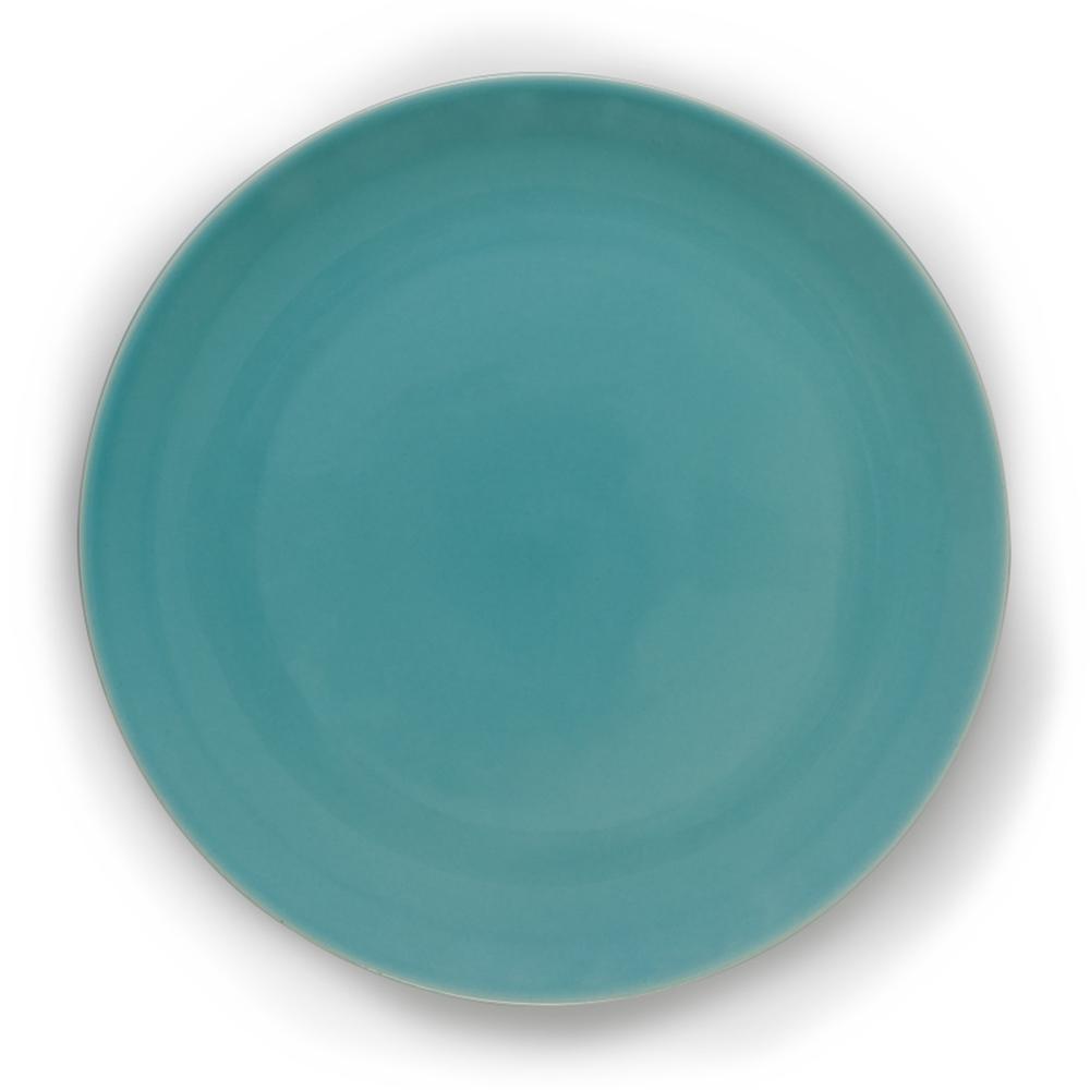 Prato Raso em Cerâmica 27,5cm Clear Kenya Azul Turquesa