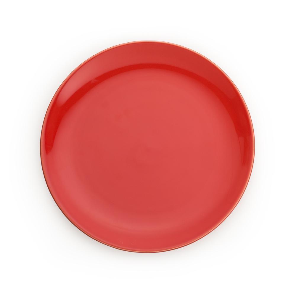 Prato para Sobremesa em Cerâmica 21,5cm Clear Kenya Vermelho Tomate