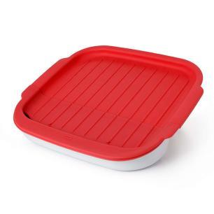 Utensílio de microondas para bacon vermelho 28cm OXO