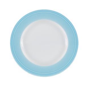 Conjunto de 4 Pratos Rasos em Porcelana 28cm Breeze Kenya Azul