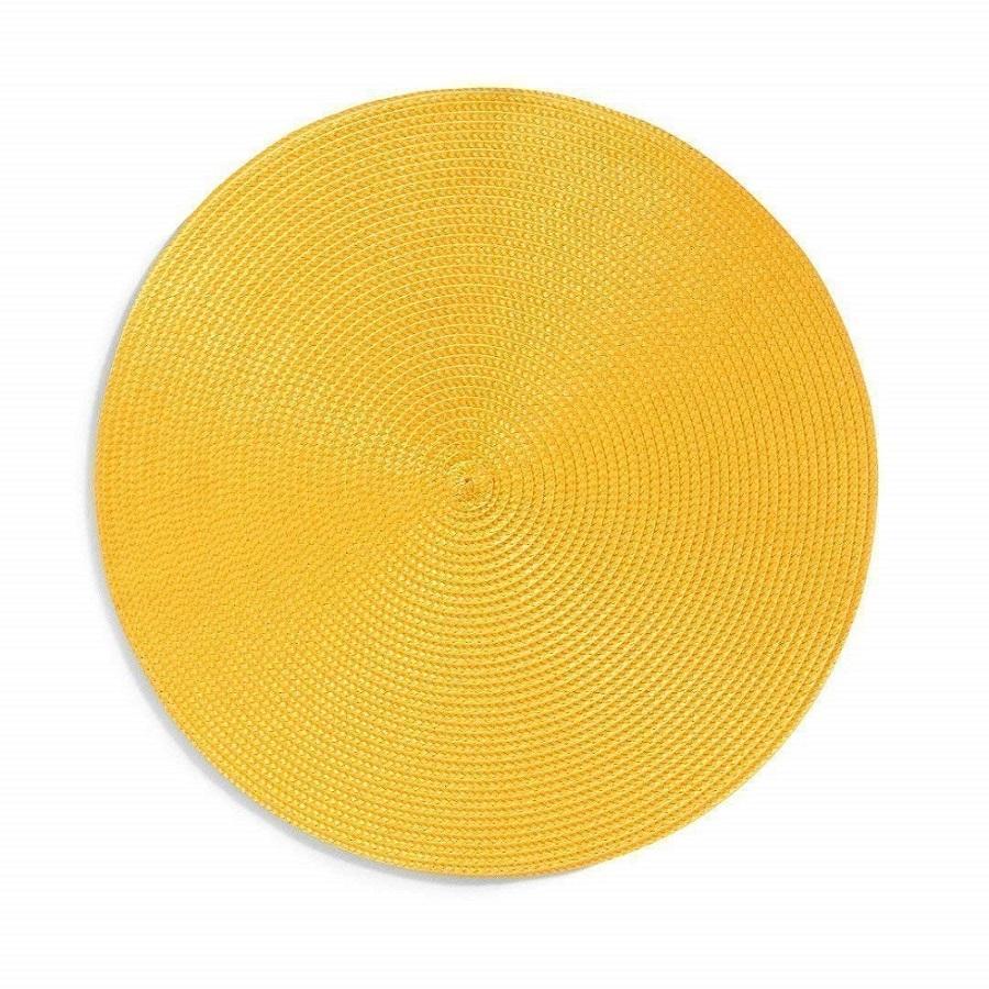 Jogo Americano Luna RD 38cm Copa e Cia Amarelo