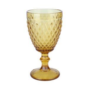 Conjunto com 6 Taças para Água Bico de Abacaxi em Vidro 260ml Ambar Lyor