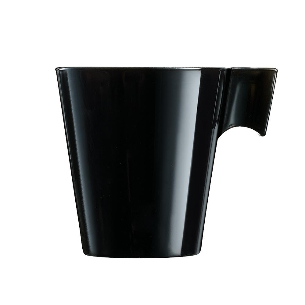 Xícara para Café em Vidro 80ml Flashy Luminarc Preta